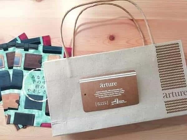 Aashaのヴィーガン長財布をyahooショッピングで購入