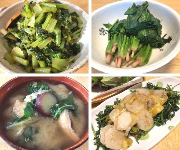有機野菜の料理や調理例
